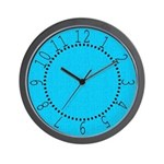 Cyan Linen Look Wall Clock