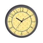 Dark Yellow Cheese Wall Clock