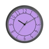 Lavender Satin Look Wall Clock