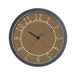 Brown Parchment Look Wall Clock