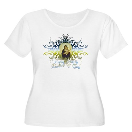 """Holy Mary, Mother of God"" Women's Plus Size Scoop"