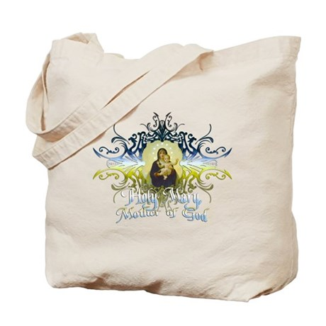 """Holy Mary, Mother of God"" Tote Bag"