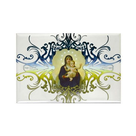 """Holy Mary, Mother of God"" Rectangle Magnet"
