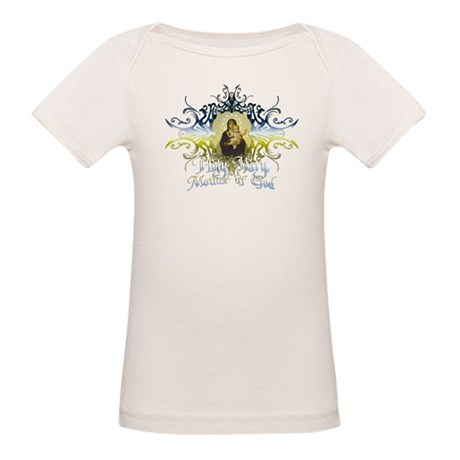 """Holy Mary, Mother of God"" Organic Baby T-Shirt"