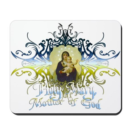 """Holy Mary, Mother of God"" Mousepad"