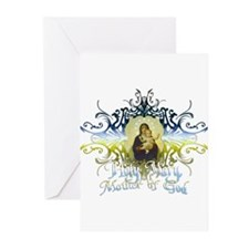 """Holy Mary, Mother of God"" Greeting Cards (Pk of 1"