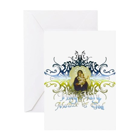 """Holy Mary, Mother of God"" Greeting Card"