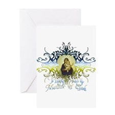 """""""Holy Mary, Mother of God"""" Greeting Card"""