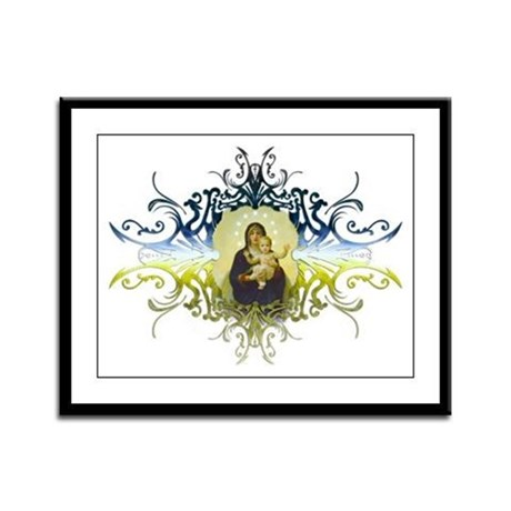 """Holy Mary, Mother of God"" Framed Panel Print"