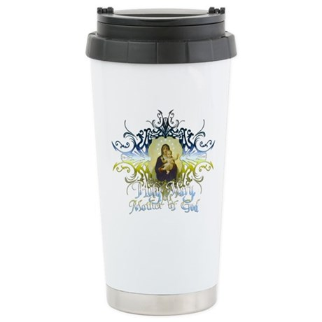 """Holy Mary, Mother of God"" Ceramic Travel Mug"