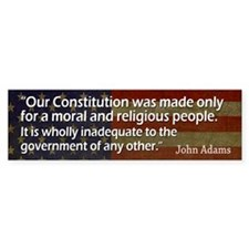 ADAMS: Moral & Religious people Bumper Sticker