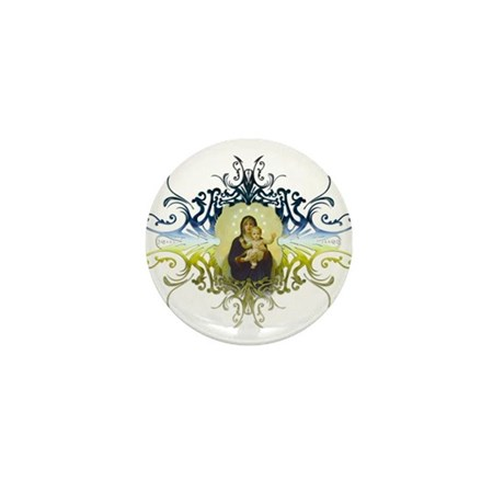 """Holy Mary, Mother of God"" Mini Button"