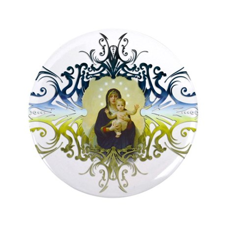 """Holy Mary, Mother of God"" 3.5"" Button (100 pack)"
