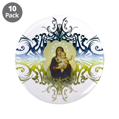 """Holy Mary, Mother of God"" 3.5"" Button (10 pack)"