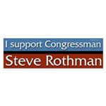 Support Steve Rothman bumper sticker