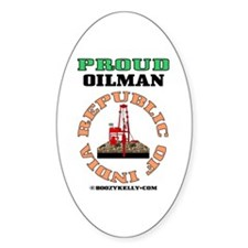 Proud Indian Oilman Oval Sticker (10 pk)Oil