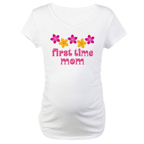 Cute First Time Mom Maternity T-Shirt