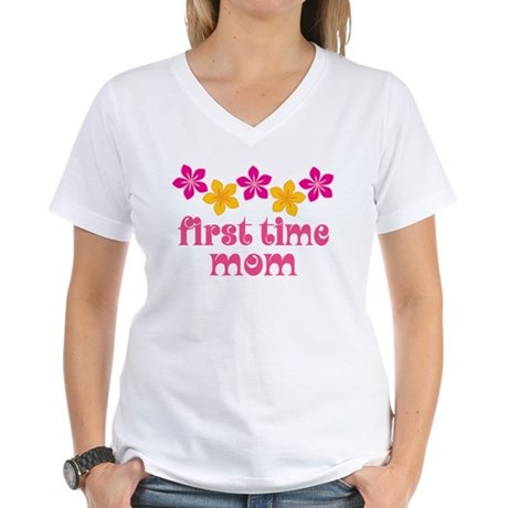 Cute First Time Mom Women's V-Neck T-Shirt