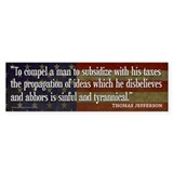 Jefferson: TAXES Bumper Sticker (10 pk)
