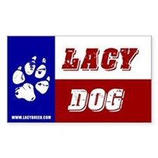 Texas Lacy Dog Decal