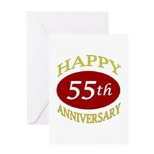 Happy 55th Anniversary Greeting Card