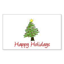 Holiday Tree Rectangle Sticker 10 pk)