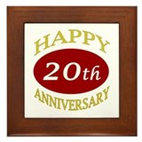 Happy 20th Anniversary Framed Tile