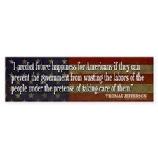 JEFFERSON: Predict Future Happiness Bumper Sticker