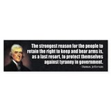 JEFFERSON: 2nd Amendment Bumper Bumper Sticker