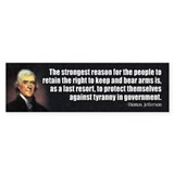 JEFFERSON: 2nd Amendment Bumper Car Sticker