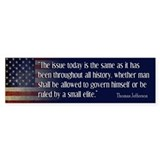 JEFFERSON: Ruled by ELITE Bumper Bumper Sticker