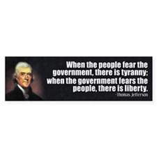 Jefferson: Liberty vs. Tyranny Bumper Sticker