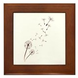 Dandelions Framed Tile