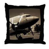 C-47 Sepia Throw Pillow
