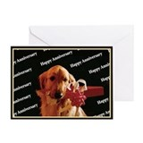 Golden Retriever Happy Anniversary Card