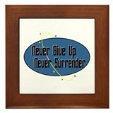 Never Surrender Framed Tile