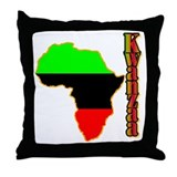 Cute African christmas Throw Pillow