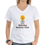 Veterinary Medicine Chick Women's V-Neck T-Shirt