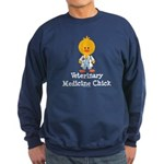 Veterinary Medicine Chick Sweatshirt (dark)