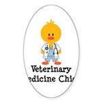 Veterinary Medicine Chick Oval Sticker (10 pk)