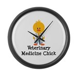 Veterinary Medicine Chick Large Wall Clock