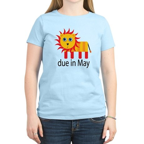 May Lion Due Date Women's Light T-Shirt