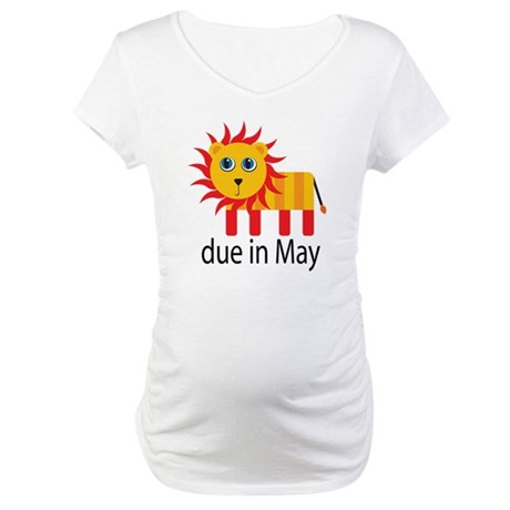 May Lion Due Date Maternity T-Shirt