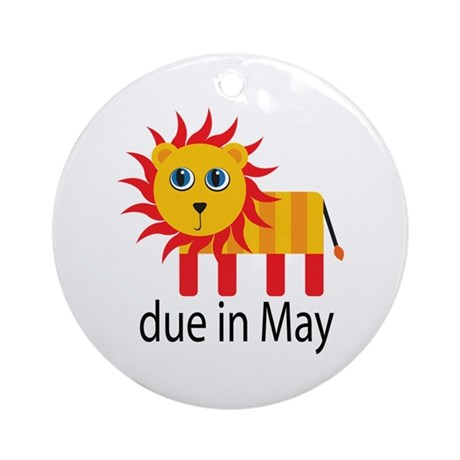 May Lion Due Date Ornament (Round)