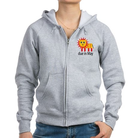 May Lion Due Date Women's Zip Hoodie