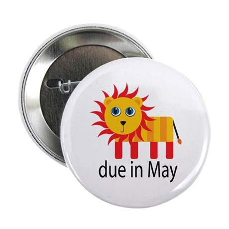 "May Lion Due Date 2.25"" Button"
