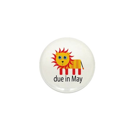 May Lion Due Date Mini Button