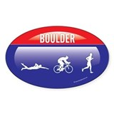 Interstate Boulder Triathlon Oval Decal