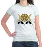 Gold Pentagram Triple Goddess T