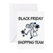 BLACK FRIDAY SHOPPING TEAM Greeting Cards (Pk of 1